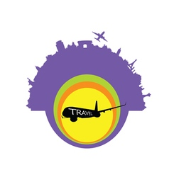 travel exotic with airplane vector image