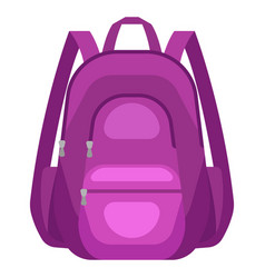 travel textile backpack vector image
