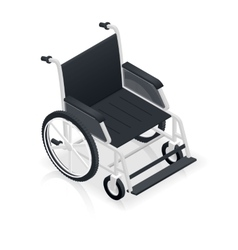 Wheelchair detailed isometric icon vector image