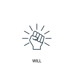 Will concept line icon simple element vector