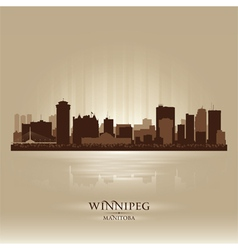 Winnipeg Manitoba skyline city silhouette vector