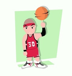 Funny little kids play basketball vector