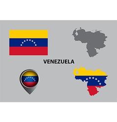 Map of Venezuela and symbol vector image vector image