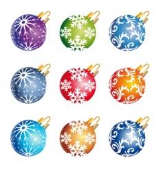 Christmas color balls vector image vector image