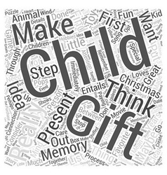 Christmas gift idea for a child word cloud concept vector