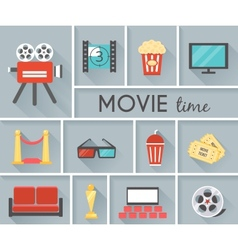 Conceptual Movie Time Graphic Design vector image