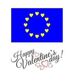 European flag of love isolated on white background vector image