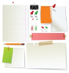 stationery vector image vector image