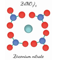 Zirconium nitrate ZrN4O12 molecule vector image