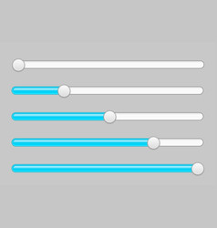 blue and gray slider bars vector image vector image