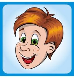 boys head vector image vector image