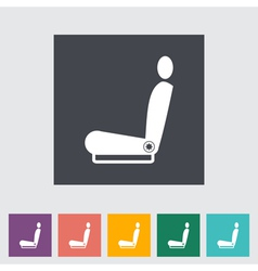 car seat vector image vector image