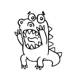 cartoon screaming dragon vector image