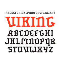 Decorative serif font in historical style vector