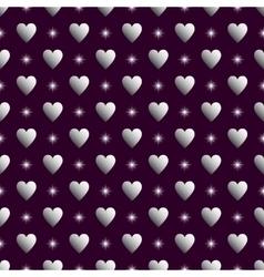 Purple silver seamless valentine background vector