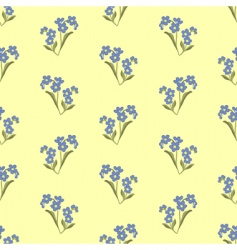 wallpaper with forget-me-not vector image