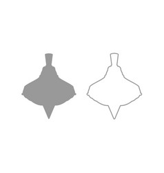 Whirligig icon grey set vector
