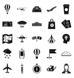 craft icons set simple style vector image vector image