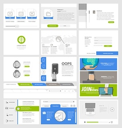 Flat website template elements for business vector image