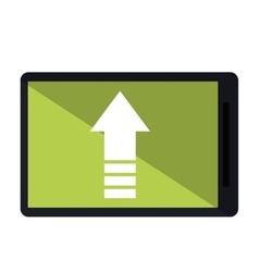mobile phone upload arrow gadget vector image vector image