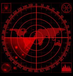 A red radar screen eps10 vector