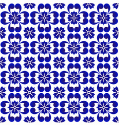 abstract flower blue pattern vector image