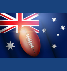 afl ball and australian flag vector image