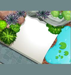 an aeriel view garden template vector image