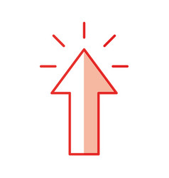 Arrow pointer isolated icon vector