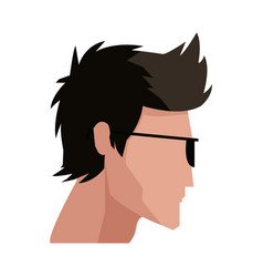 Avatar head guy young profile vector