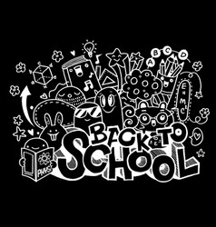 Back to school monster doodle for your design vector