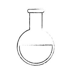 beaker chemistry laboratory vector image