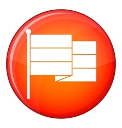Black flag icon flat style vector