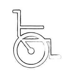 Blurred silhouette abstract wheelchair flat icon vector