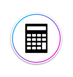 calculator icon isolated on white background vector image