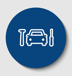 car tire repair service sign white vector image