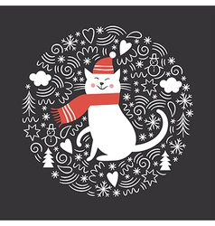 Christmas Christmas card vector image