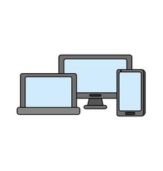 computer laptop cellphone gadgets vector image