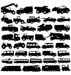 Construction vehicles vector