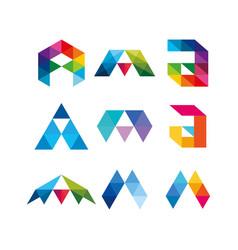 Design letter a full color dark background vector