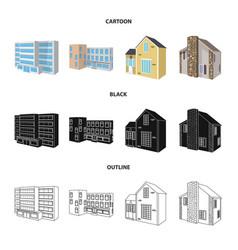 Design of facade and housing sign vector