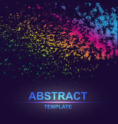 Dynamic abstract scattering particles background vector