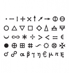 elements and symbols vector image