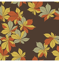 Fallen chestnut leaves Autumn orange leaves vector