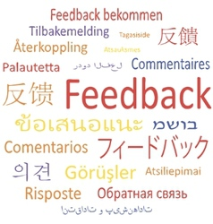 Feedback in different languages vector image