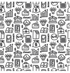 finance seamless pattern vector image