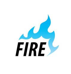 fire logo vector image