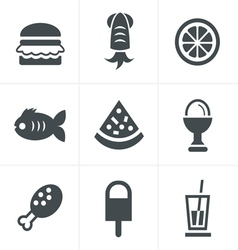 Food Icons Set Design vector image