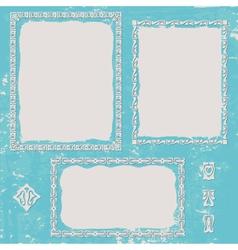 Frames set vintage vector