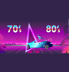 Futuristic banner portal to another reality vector